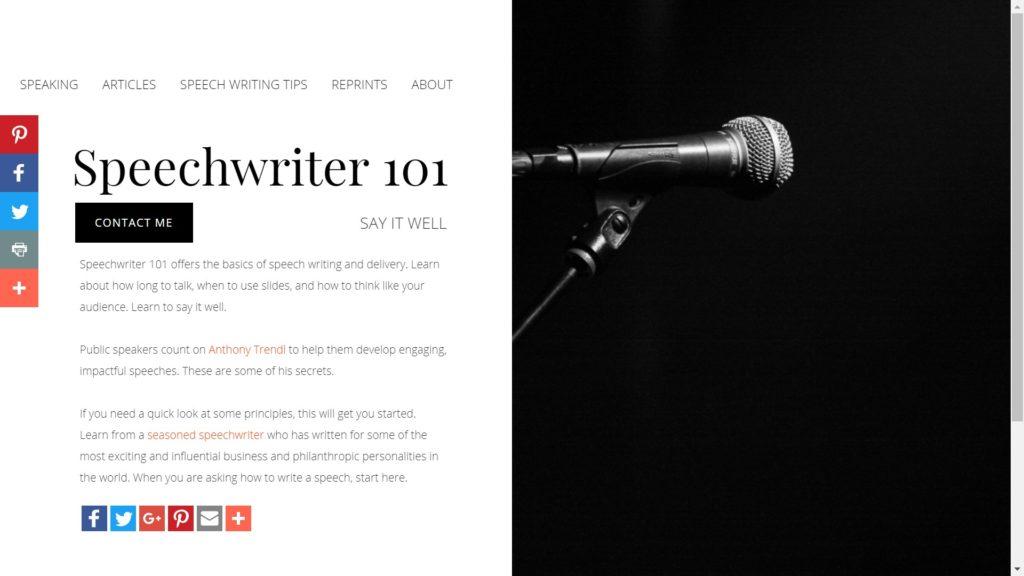Speechwriter 101
