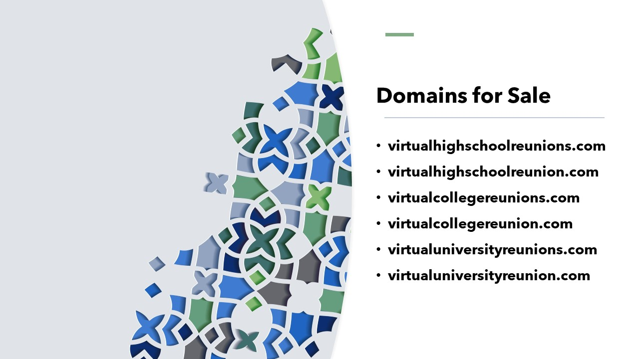 Virtual Reunions Domains for Sale